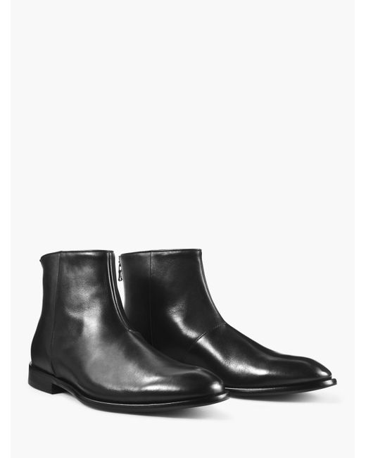 John Varvatos Black Nyc Back Zip Boot for men