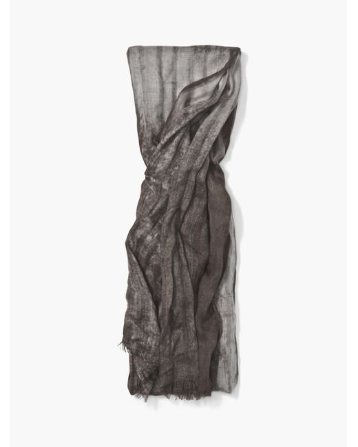 John Varvatos | Gray Crinkle Printed Scarf for Men | Lyst