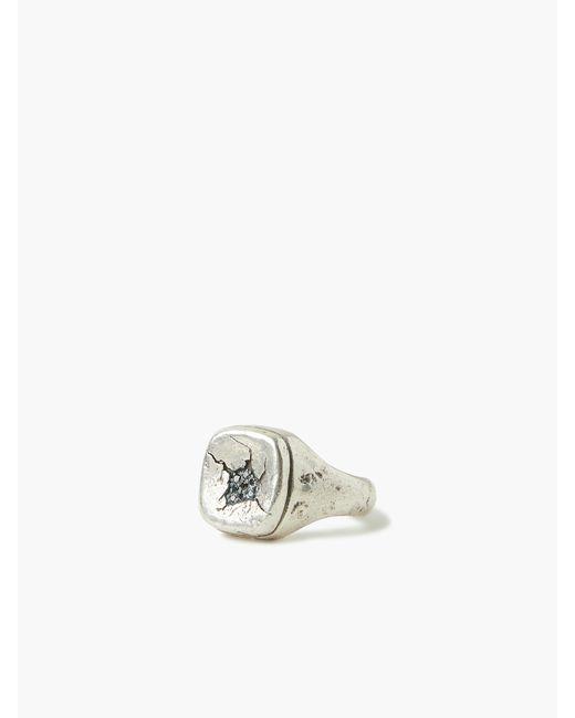 John Varvatos Metallic Sterling Silver Signet Ring for men