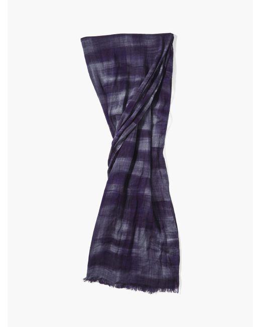 John Varvatos - Purple Woven Crinkled Patterned Scarf for Men - Lyst