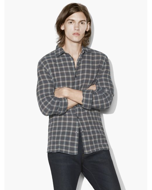 John Varvatos   Multicolor Plaid Shirt for Men   Lyst