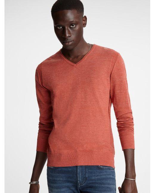 John Varvatos Red Arlington V-neck Sweater for men