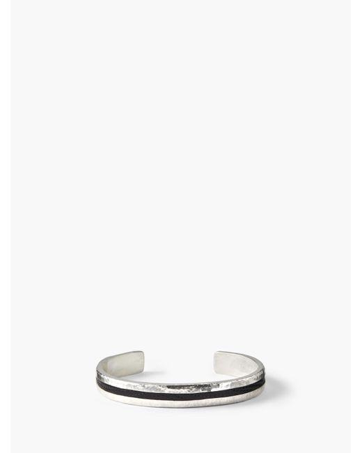 John Varvatos - Black Exotic Iguana & Silver Bracelet for Men - Lyst