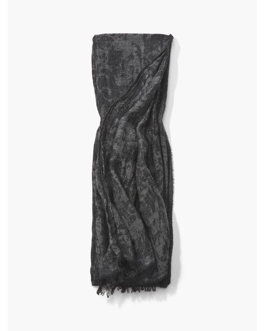 John Varvatos | Gray Crinkled Baroque Print Scarf for Men | Lyst