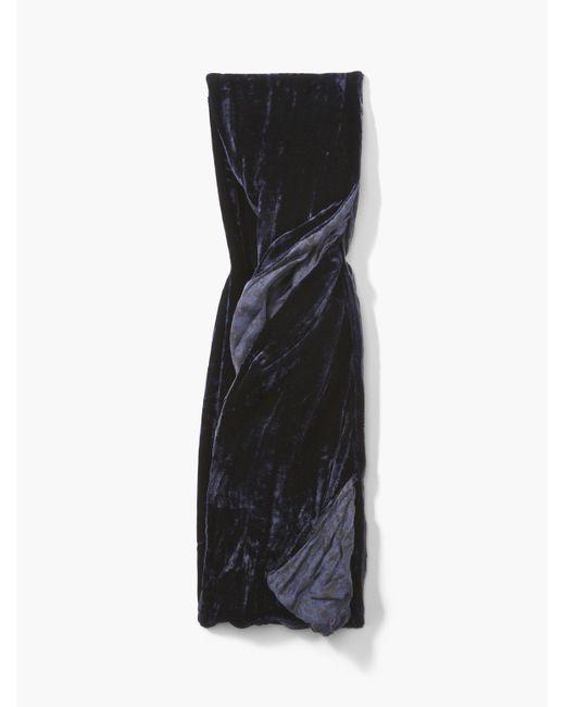 John Varvatos   Blue Two-sided Velvet Scarf for Men   Lyst