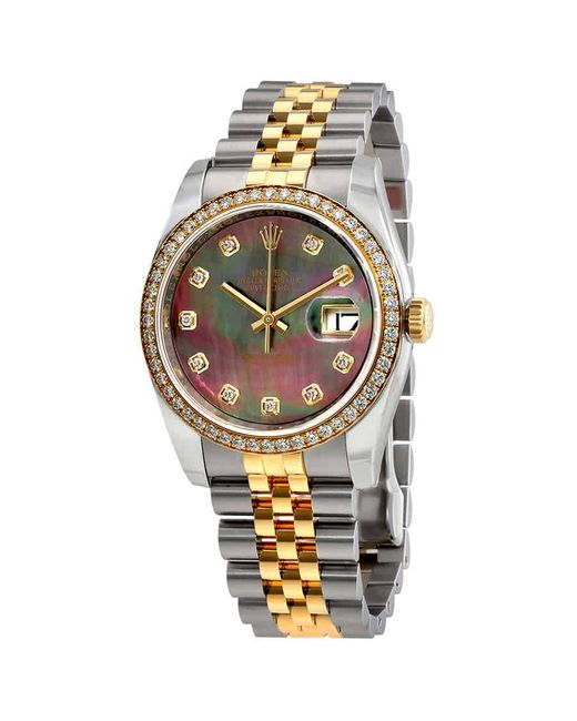 Rolex Metallic Datejust 31 Silver Diamond Dial Automatic Ladies Steel And 18kt Everose Gold Jubilee Watch