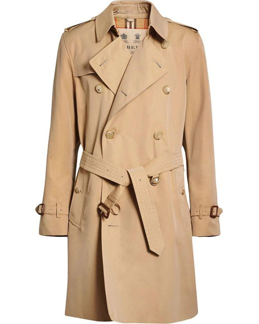 Burberry Natural The Mid-length Kensington Heritage Trench Coat for men