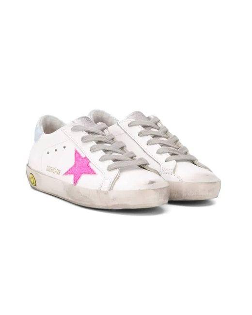 Golden Goose Deluxe Brand Kids Pink Glitter Superstar Sneakers