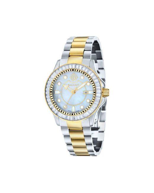 Ballast Metallic Vanguard Mother Of Pearl Two Tone Ladies Watch -5101-55