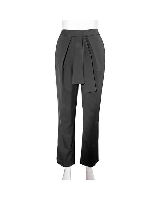 Victoria Beckham Blue Ladies Pants Navy Front Tie Pant