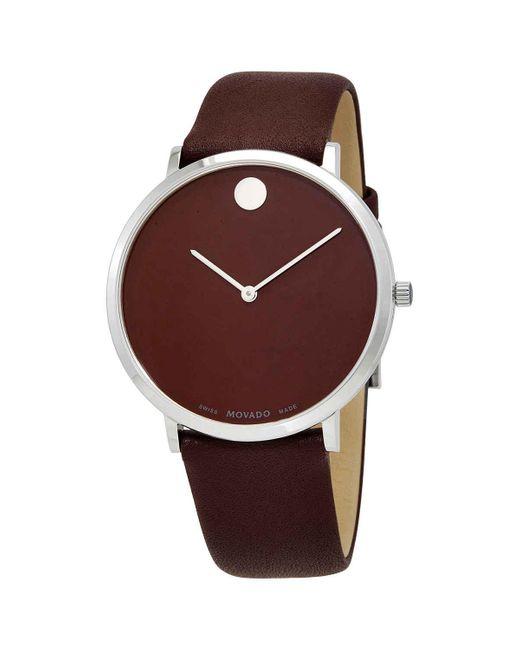 Movado Modern 47 Quartz Brown Dial Watch