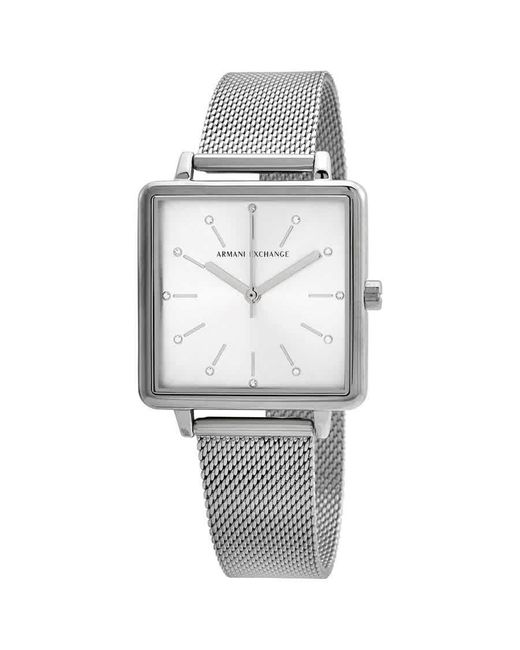 Armani Exchange Metallic Silver Stainless Steel Analogue Watch