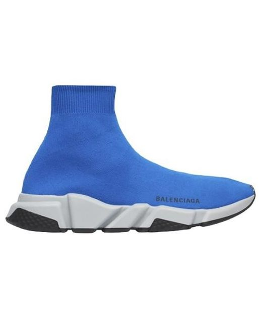 Balenciaga Blue Mens Speed Knit for men