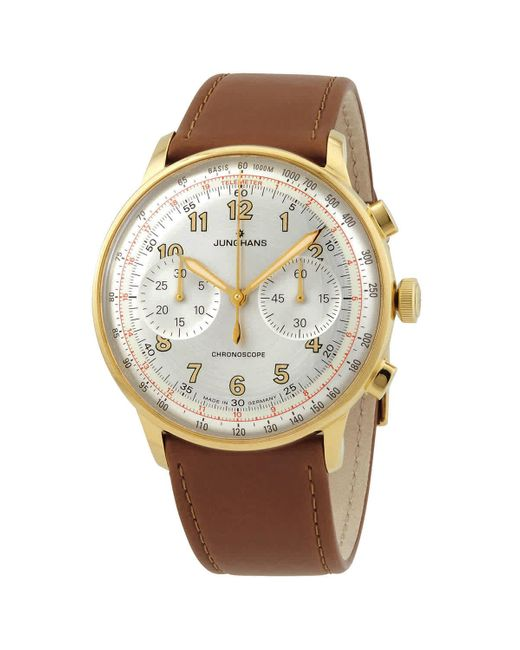 Junghans Metallic Meister Telemeter Chronograph Automatic Silver Dial Mens Watch for men