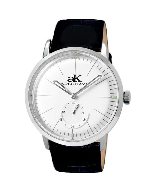 Adee Kaye Black Hand Wind White Dial Mens Watch -msv for men