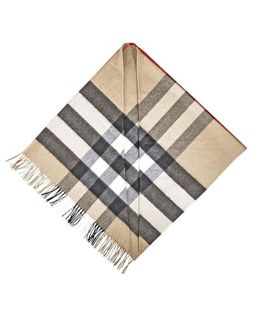 Burberry Brown Checked Cashmere Scarf