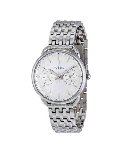 Fossil Metallic Tailor Multi-function White Dial Ladies Watch