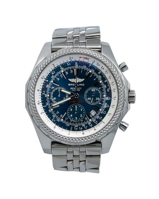Breitling Pre-owned Bentley Motors Chronograph Automatic Blue Dial Mens Watch for men