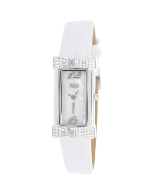 Jivago Charmante White Mother Of Pearl Dial Ladies Watch