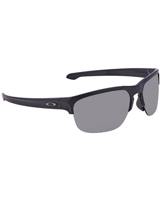 Oakley Gray Silver Edge Prizm Grey Round Mens Sunglasses  941301 65 for men
