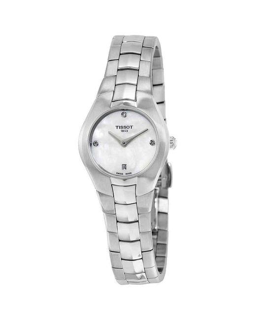 Tissot Metallic T-round White Dial Diamond Ladies Watch T0960091111600