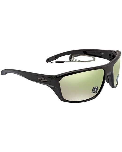 Oakley Black Split Shot Prizm Shallow Water Polarized Rectangular Mens Sunglasses  941605 64 for men