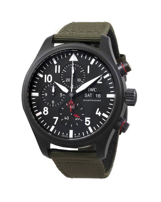 Iwc Green Pilot Chronograph Top Gun ''sfti'' Automatic Watch for men