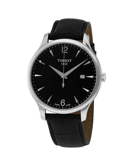 Tissot Tradition Quartz Black Dial Mens Watch for men
