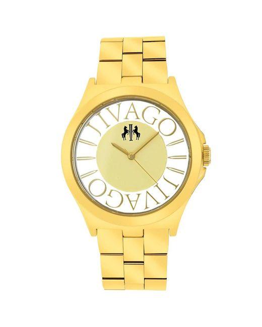 Jivago Metallic Fun Gold Dial Gold-tone Ladies Watch
