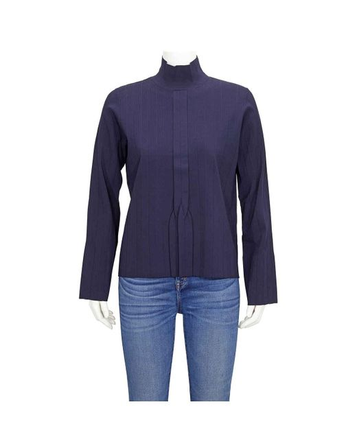 A.P.C. Blue Long Sleeved Front Pleated Shirt, Brand