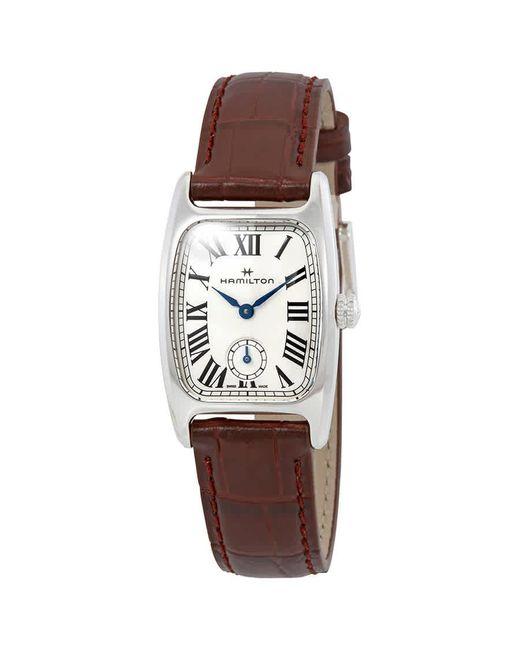Hamilton Brown Boulton M White Dial Ladies Watch