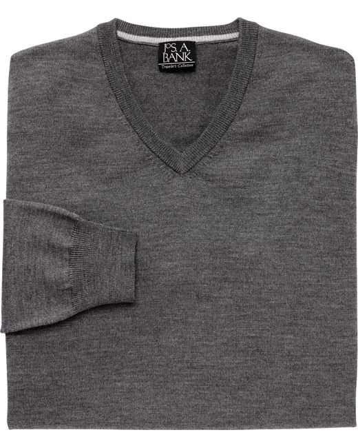 Jos. A. Bank | Multicolor Traveler Collection Merino Wool V-neck Sweater - Big & Tall for Men | Lyst