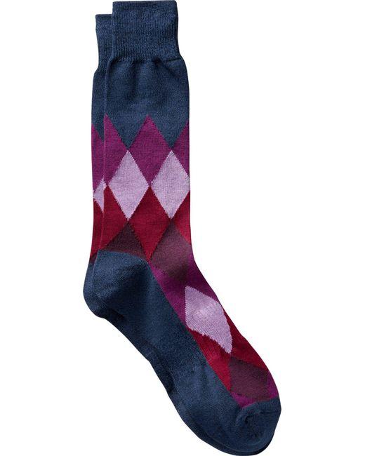 Jos. A. Bank - Purple Argyle Dress Socks, One-pair for Men - Lyst