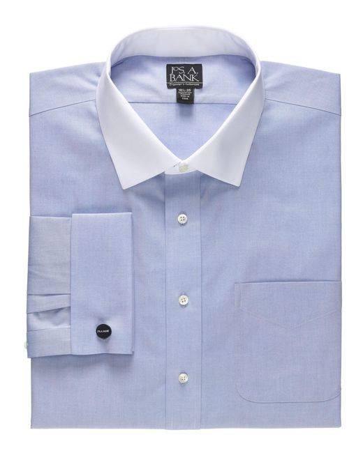 Lyst jos a bank traveller collection traditional fit for Joseph banks dress shirts