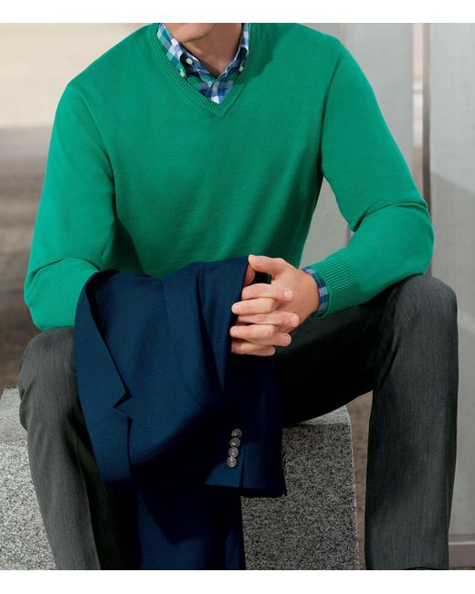 Jos. A. Bank | Blue Signature V-neck Pima Cotton Sweater Big And Tall for Men | Lyst