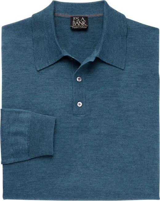 Jos. A. Bank | Blue Traveler Merino Wool Polo Sweater Big And Tall for Men | Lyst