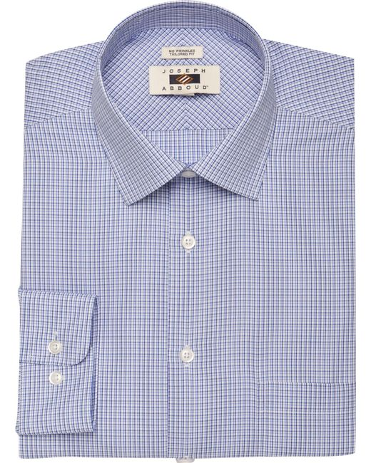 Jos a bank joseph abboud tailored fit mini check dress for Joseph banks dress shirts