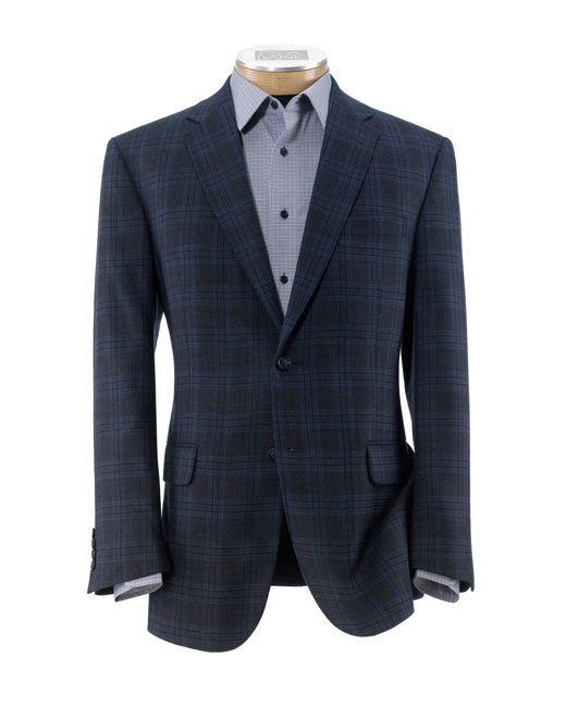 Jos a bank joseph 2 button tailored fit plaid sportcoat for Jos a bank tailored fit vs slim fit shirts