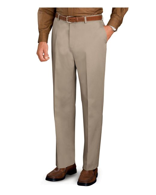 Jos a bank traveler slim fit twill plain front pant for Jos a bank tailored fit vs slim fit shirts