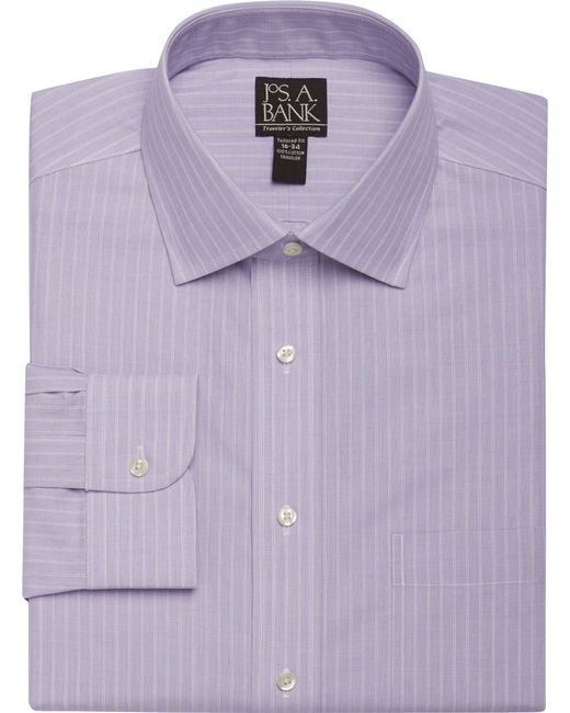 Jos a bank traveller collection slim fit spread collar for Joseph banks dress shirts