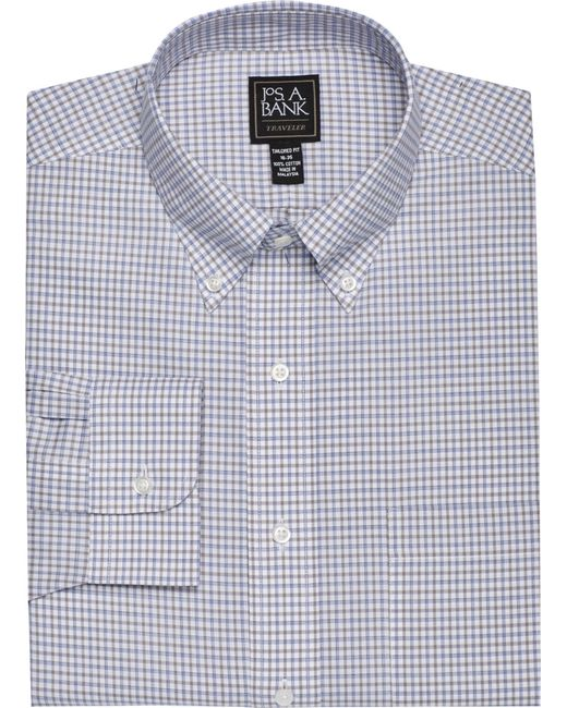 Lyst jos a bank traveller collection tailored fit for Joseph banks dress shirts