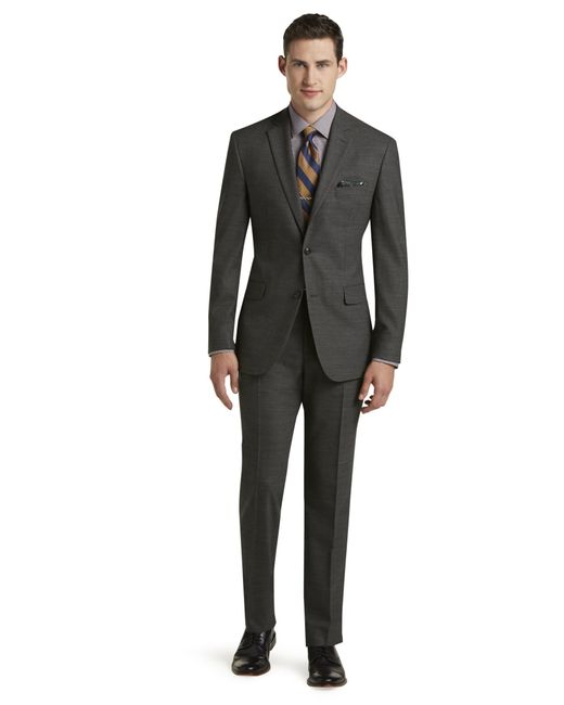 Jos a bank 1905 collection tailored fit suit big and for Jos a bank slim fit vs tailored fit shirts