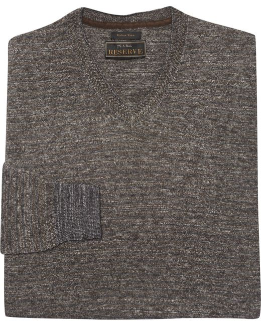 Jos. A. Bank | Gray Reserve Collection Herringbone Stripe Sweater for Men | Lyst