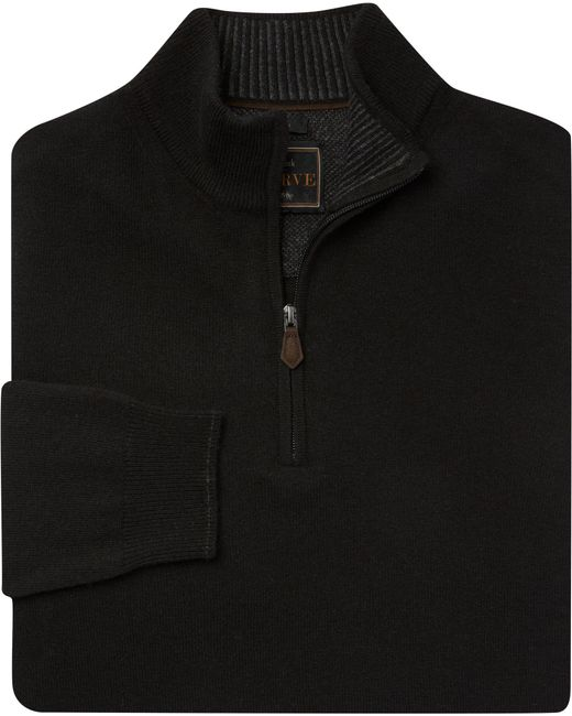 Jos. A. Bank - Black Reserve Collection Quarter-zip Merino Wool Blend Sweater - Big & Tall for Men - Lyst