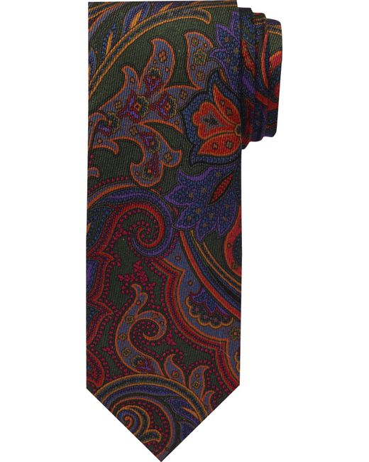 Jos. A. Bank | Green Reserve Collection Floral Motif Tie for Men | Lyst