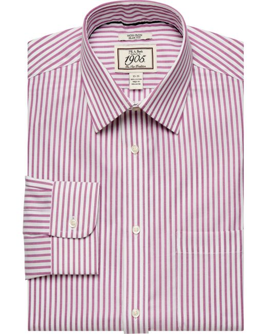 Jos a bank 1905 collection spread collar slim fit dress for Joseph banks dress shirts