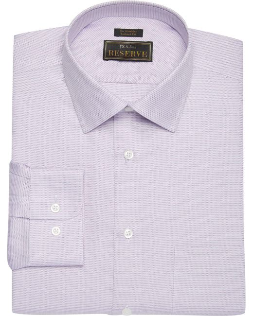 Lyst jos a bank reserve collection tailored fit spread for Tailoring a dress shirt