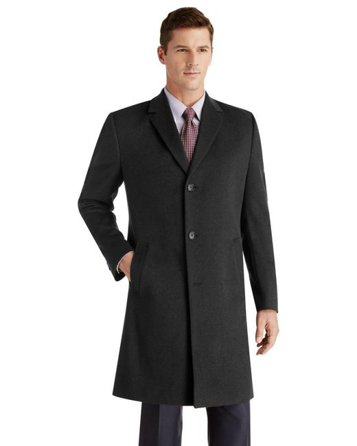 Jos. A. Bank - Black Executive Collection Tailored Fit 3/4 Length Topcoat for Men - Lyst