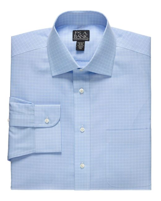 Jos A Bank Traveller Collection Tailored Fit Button Down