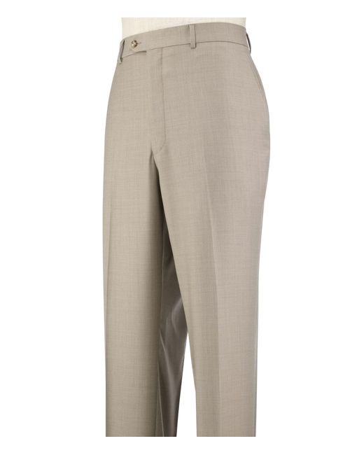 Jos. A. Bank | Brown Traveler Collection Tailored Fit Flat Front Dress Pants for Men | Lyst